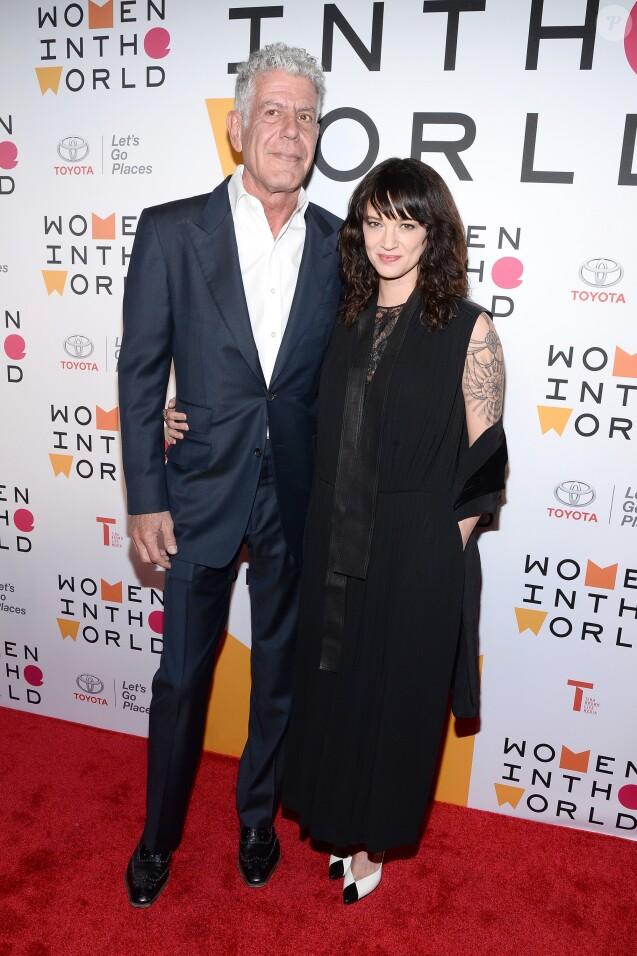 Anthony Bourdain et Asia Argento à New York le 12 avril 2018.