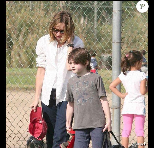 Calista Flockhart et son fils Liam, moments sportifs mais tendres aussi !