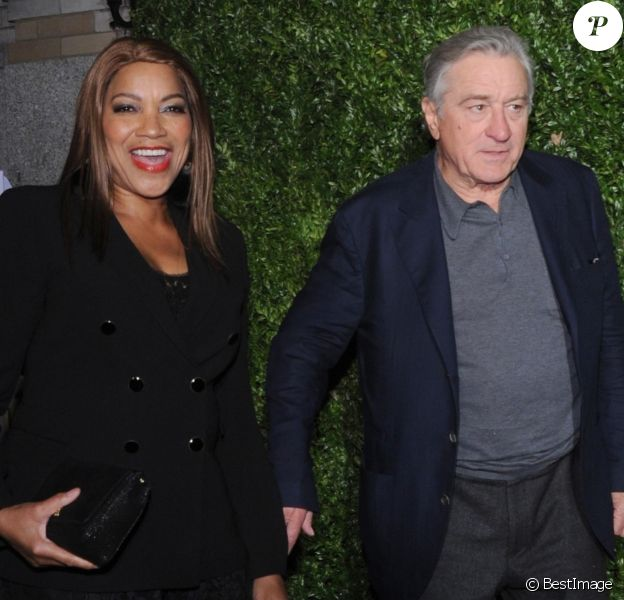 "Robert De Niro et sa femme Grace Hightower à la soirée Tribeca Film Festival Artists organisée par Chanel au restaurant ""Balthazar"" dans le quartier de Soho à New York, le 23 avril 2018"