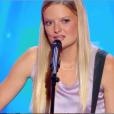 """Déboarh Biver dans """"Incroyable Talent 2018"""" sur M6, le 27 novembre 2018."""