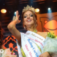 Oksana Voevodina, alias Miss Moscou 2015,  le jour de son élection.