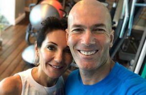 Zinédine Zidane en mode détente et pantoufles avec sa femme Véronique