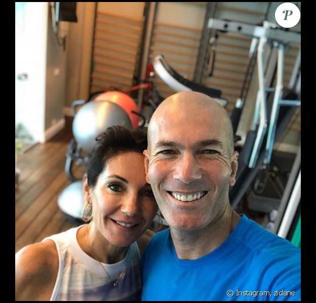 Zinédine Zidane et sa femme Véronique pour une session sport à deux. Instagram, le 6 octobre 2018.