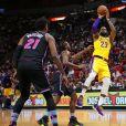 LeBron James lors du match Miami Heat - Los Angeles Lakers à Miami, le 18 novembre 2018.