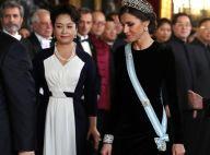 Letizia d'Espagne : Parée d'un diadème fabuleux face à Xi Jinping et sa femme