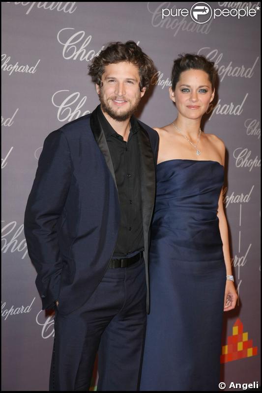 Guillaume Canet et Marion Cotillard lors de la soirée Trophée Chopard à Cannes le 18 mai 2009