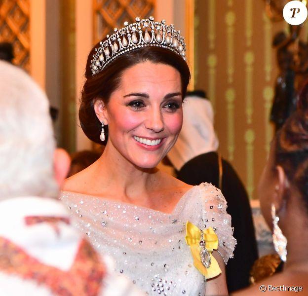 Catherine (Kate) Middleton, duchesse de Cambridge - La famille royale d'Angleterre accueille les invités lors d'une réception pour les membres du corps diplomatique au palais de Buckingham à Londres le 4 décembre 2018.