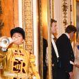 Camilla Parker Bowles, duchesse de Cornouailles, le prince Charles, prince de Galles, la reine Elisabeth II d'Angleterre - La famille royale d'Angleterre accueille les invités lors d'une réception pour les membres du corps diplomatique au palais de Buckingham à Londres le 4 décembre 2018.