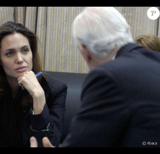 Angelina Jolie lors de sa visite en Irak pour l'ONU