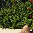 Vanessa Ponce de Leon, Miss Monde 2018, en maillot de bain près d'une piscine - Instagram, 6 juillet 2018