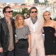Quentin Tarantino, Mélanie Laurent, Brad Pitt et Diane Kruger lors du photocall d'Inglourious Basterds à Cannes le 20 mai 2009 lors du Festival de Cannes