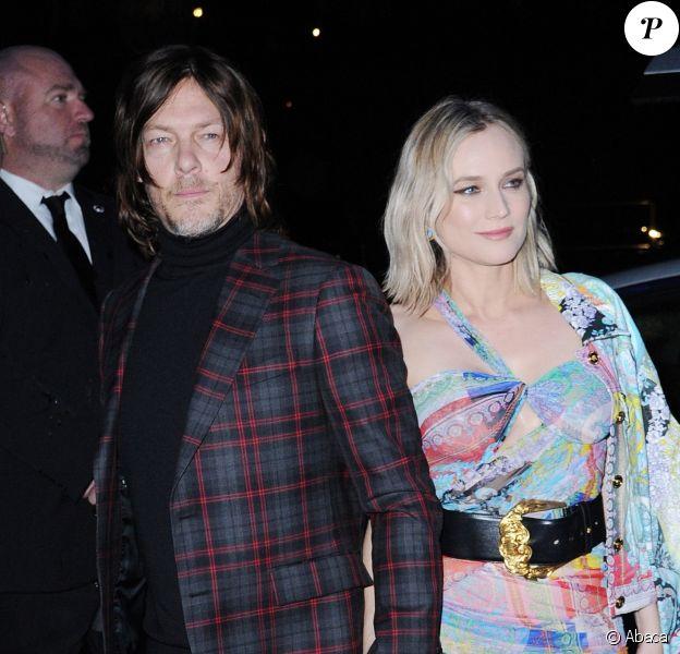 Norman Reedus et Diane Kruger au défilé Versace à New York le 2 décembre 2018