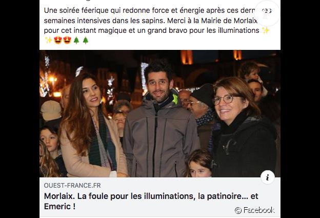 Émeric et sa chérie de sortie à Morlaix (Finistère). Décembre 2018. Publication Facebook.