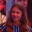 """Charlie, la fille de Sophie Thalmann, sur le plateau de l'émission de Patrick Sébastien """"Les Années Bonheur"""" diffusée le 15 décembre 2018 sur France 2."""