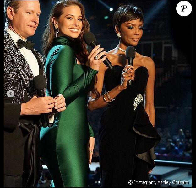 Ashley Graham était co-présentatrice de Miss Univers 2018. Bangkok, le 16 septembre 2018.