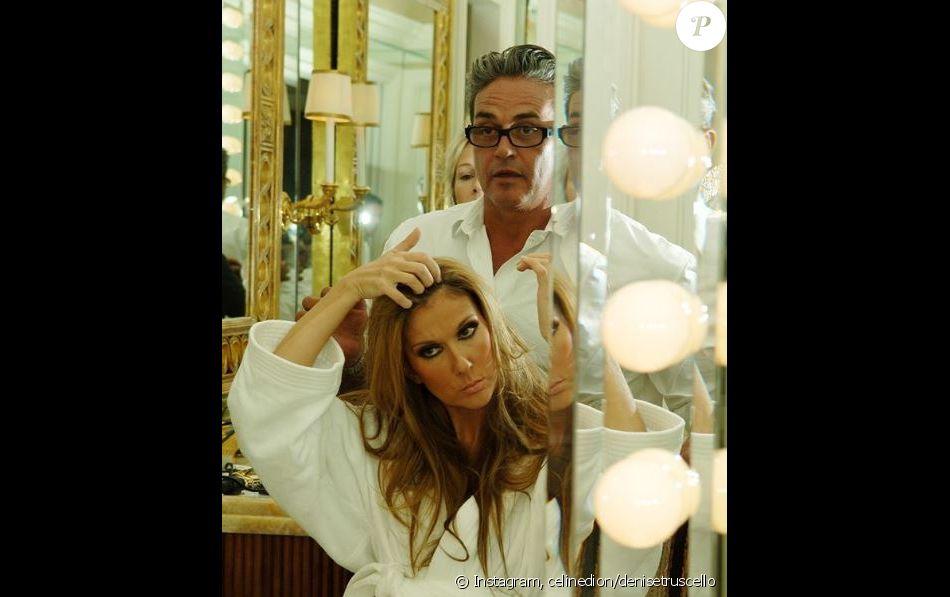 Céline Dion pose aux côtés du regretté Oribe Canales. Photo partagée sur Instagram, le 18 décembre 2018.