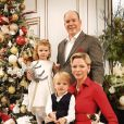 Exclusif - No Tabloids - Le prince Albert II de Monaco avec la princesse Charlène de Monaco et leurs enfants le prince Jacques de Monaco et la princesse Gabriella de Monaco - Carte de voeux 2019 de la famille princière de Monaco. © Palais Princier Monaco via Bestimage  Exclusive - For Germany call for price - no web - No Tabloids Prince Albert II of Monaco and Princess Charlene and their children prince Jacques and Princess Gabriella pose for the official greeting card 201915/12/2018 - Monaco
