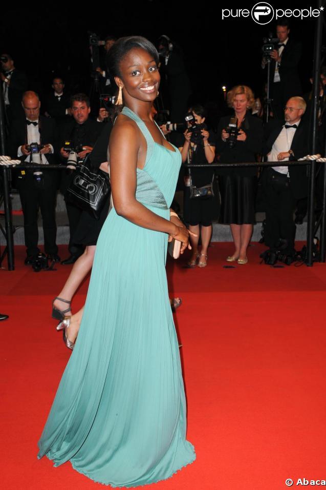 Aïssa Maïga superbe hier soir dans sa robe bleue