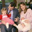 Letizia et Felipe avec les petites Leonor et Sofia