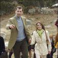 Letizia et Felipe en avril 2006 lors de la visite d'un parc en Espagne.