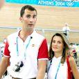Letizia et Felipe lors des Jeux Olympiques d'Athène en 2004, un couple fan de sport !