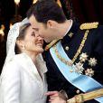 Letizia et Felipe le jour de leur mariage le 22 mai 2004 à Madrid. Un couple glamour.