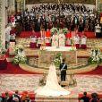 Letizia et Felipe lors de leur mariage le 22 mai 2004 à Madrid en la cathédrale Santa Maria la Real de la Almudena