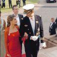 Letizia et Felipe lors du mariage du prince dannois, quelques jours avant leur propre union en mai 2004.
