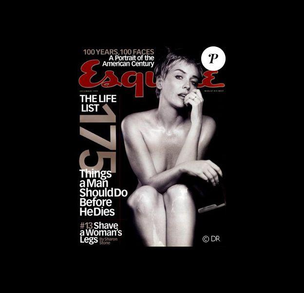 Sharon Stone en couverture du magazine Esquire