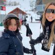 Mariah Carey et son fils Moroccan au ski à Aspen (Colorado). Décembre 2018.