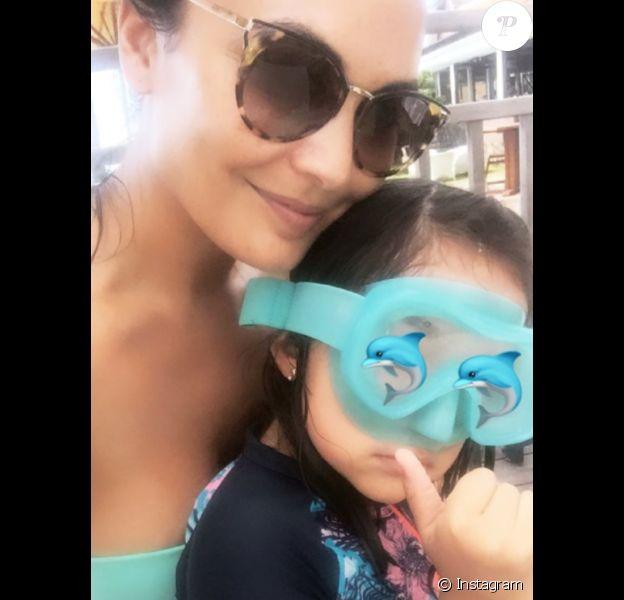 Valérie Bègue est sa fille Jazz, le 28 décembre 2019 à la Réunion.