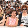 Laetitia Casta, Yi-Ching Lu, Fanny Ardant  au photocall de Visage le 23 mai 2009