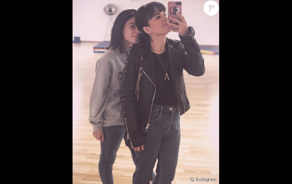 Alizée et sa fille Annily (13 ans), le 31 octobre 2018.