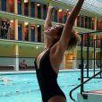 Anaïs Grangerac en maillot de bain à la piscine Molitor - Instagram, 8 décembre 2018