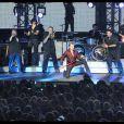 Johnny Hallyday lors de son concert à Saint-Etienne : il a littéralement mis le feu pour démarrer en beauté sa tournée Tour 66
