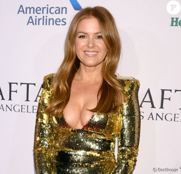"Isla Fisher - Photocall de la soirée ""BAFTA Tea Party"" à Los Angeles. Le 5 janvier 2019."