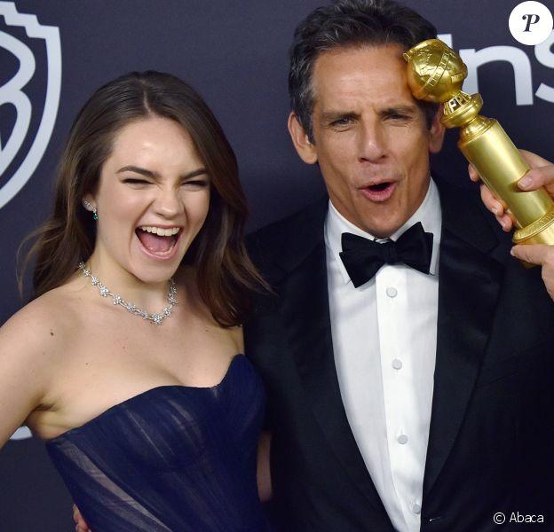 Ben Stiller et sa fille Ella avec Patricia Arquette à la 20e soirée annuelle organisée par InStyle et la Warner en marge des Golden Globes au Beverly Hilton à Beverly Hills, le 6 janvier 2019