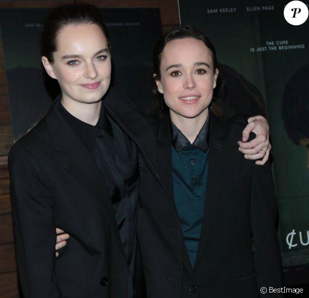 """Emma Portner et sa femme Ellen Page - Première du film """"The Cured"""" à Los Angeles le 20 février 2018."""