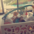 Mélanie Da Cruz en vacances en Guadeloupe avec son fils Swan en janvier 2019.