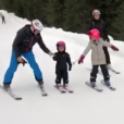 La princesse Victoria de Suède, le prince Daniel et leurs enfants la princesse Estelle et le prince Oscar en vacances au ski à Trysil, en Norvège. Vidéo diffusée par la cour de Suède le 5 janvier 2019.