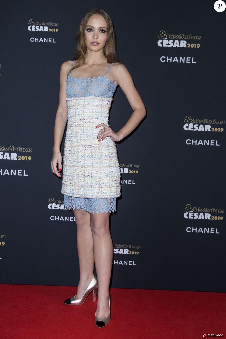 58e17d36f6d Lily-Rose Depp - Soirée des révélations des César 2019 au Petit Palais à  Paris