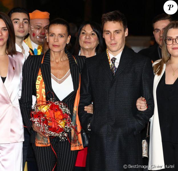 La princesse Stéphanie de Monaco, Pauline Ducruet, Louis Ducruet, Camille Gottlieb lors de la 43ème édition du festival international du cirque de Monte-Carlo le 18 janvier 2019. © Olivier Huitel