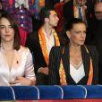 La princesse Stéphanie de Monaco et sa fille Pauline Ducruet lors de la 43ème édition du festival international du cirque de Monte-Carlo le 18 janvier 2019. © Olivier Huitel