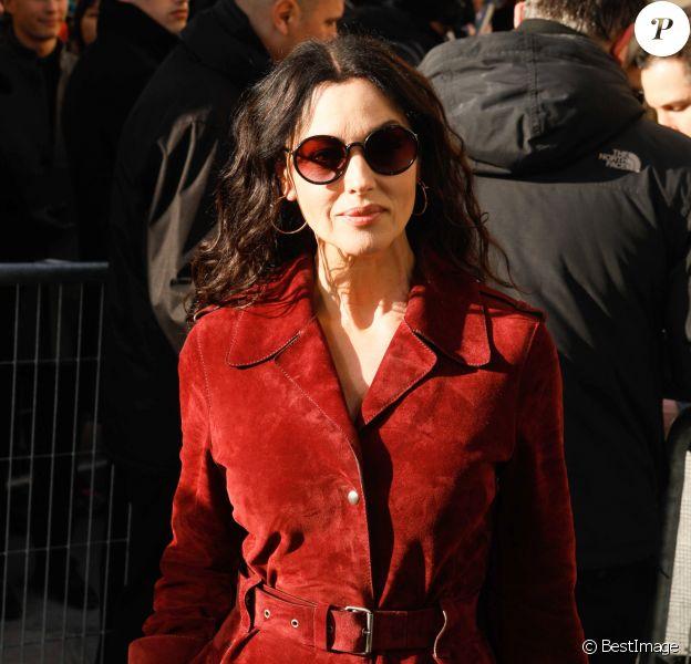 """Monica Bellucci - Arrivées au défilé de mode Haute-Couture printemps-été 2019 """"Christian Dior"""" à Paris. Le 21 janvier 2019 © Veeren-CVS / Bestimage"""