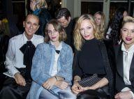 Céline Dion chic et complice avec Uma Thurman et sa fille au défilé Armani