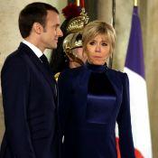 Brigitte Macron, du fuchsia au satin bleu : Rencontre et dîner à l'Élysée