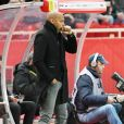 Thierry Henry, l'entraîneur de l'ASM, durant la rencontre de football de la Ligue 1 Conforama Monaco contre Nice au Stade Louis II à Monaco, le 16 janvier 2019. Le derby de la Côte d'Azur s'est terminé sur un match nul, un but partout. © Bruno bebert/Bestimage