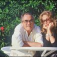 Michel Legrand et sa première femme en 1987.