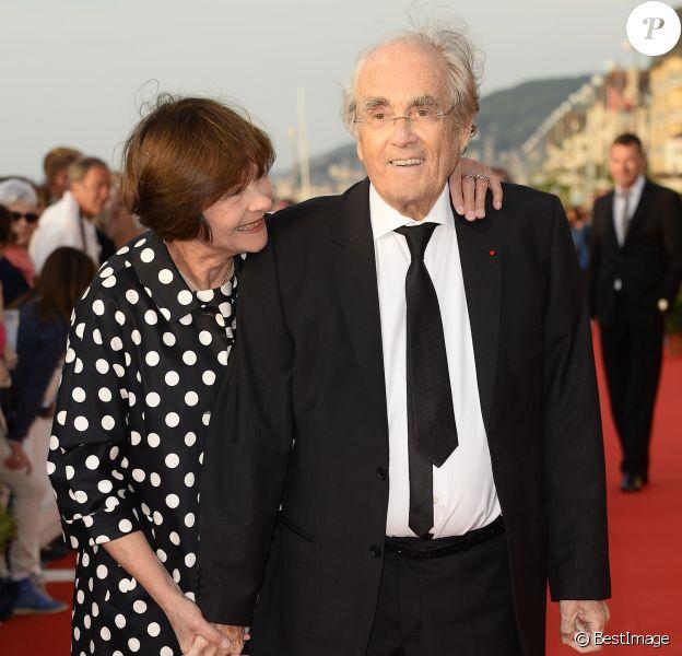 Michel Legrand et sa femme Macha Méril lors de la soirée de clôture du 29ème Festival de Cabourg à Cabourg, le 13 juin 2015.