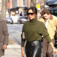 Victoria Beckham va déjeuner avec son fils Brooklyn au restaurant Cipriani à New York le 25 janvier 2019.